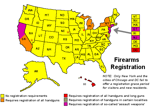 Registration Opencarryorg: States With Open Carry Map At Usa Maps